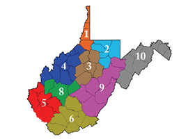 The American Legion Department of West Virginia Districts